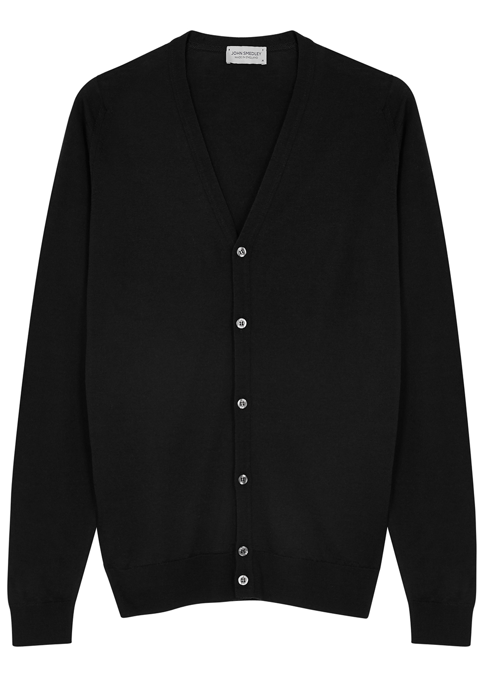 Petworth black wool cardigan