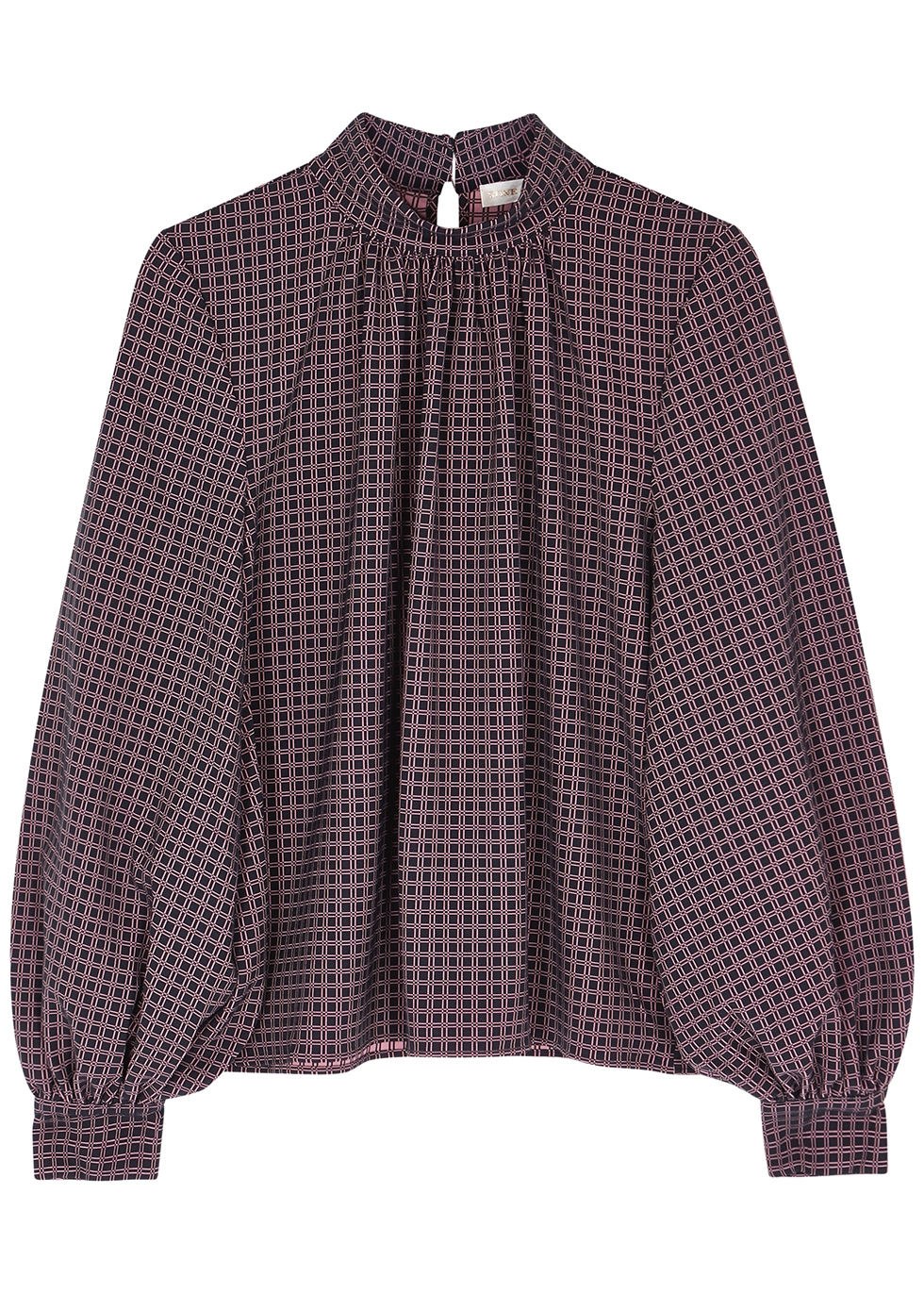 Eddy checked blouse