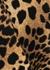 Ponza cheetah-print bandeau bikini top - Melissa Odabash