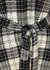 Checked wrap wool shirt dress - Rosetta Getty