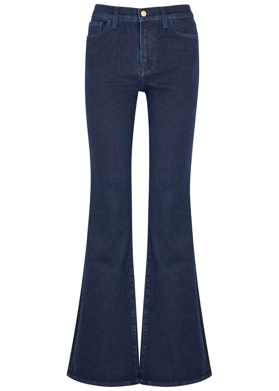 Valentina dark blue flared-leg jeans