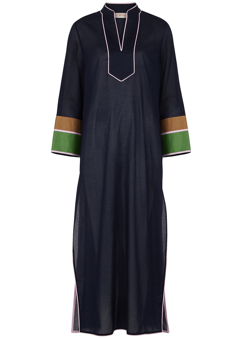 Navy cotton kaftan