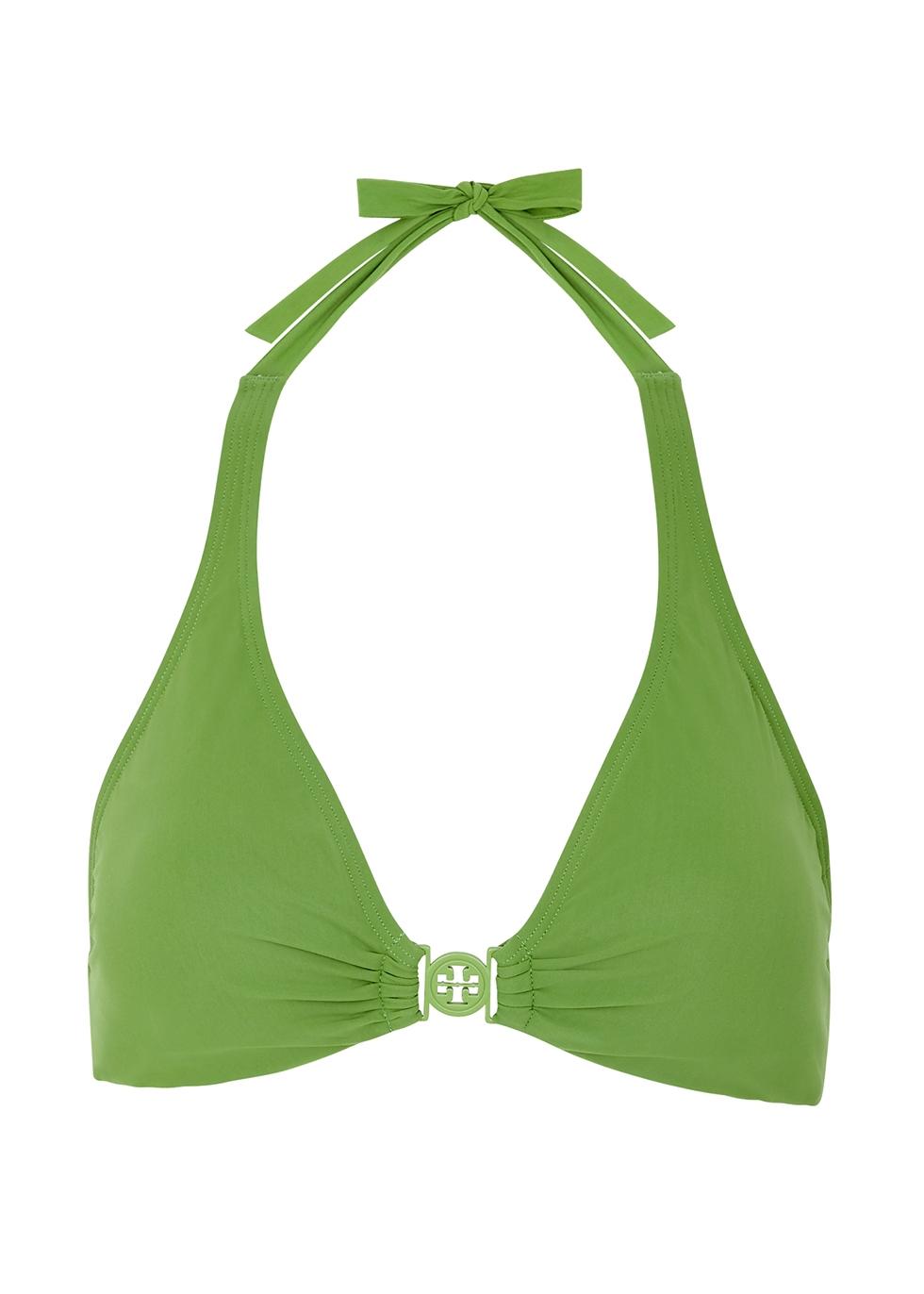 Miller green halterneck bikini top