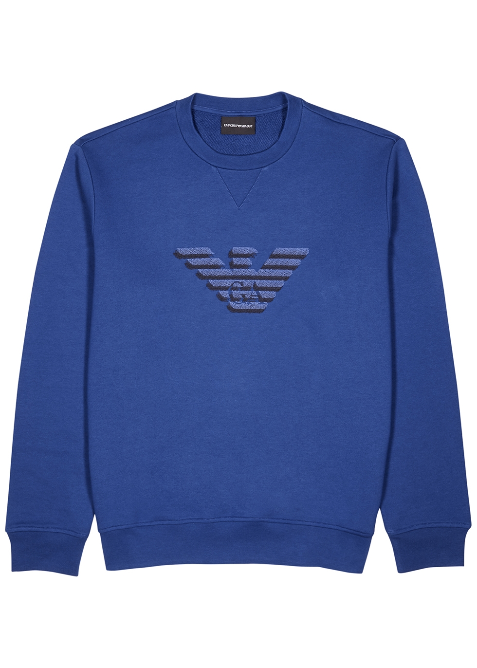 Blue logo-embroidered jersey sweatshirt