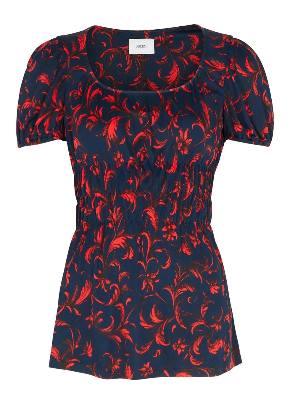Rupert floral-print satin-jersey top