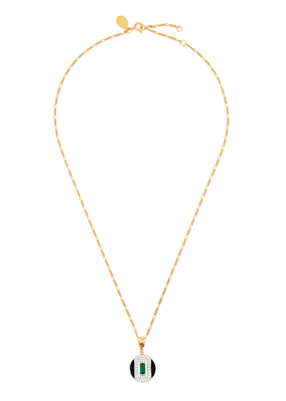 Daphne 18kt gold-plated necklace