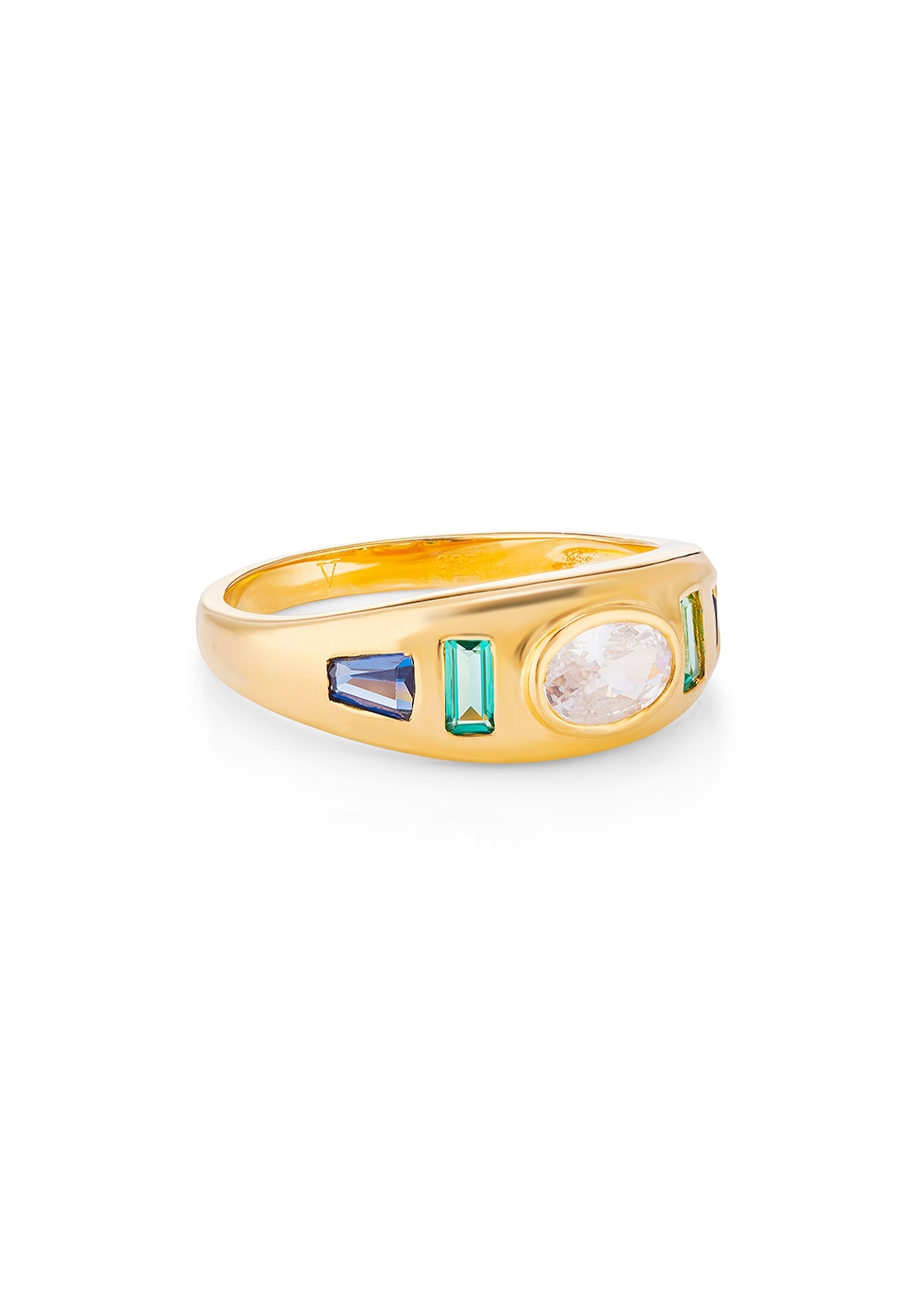 Sara Gypsy 18kt gold-plated ring