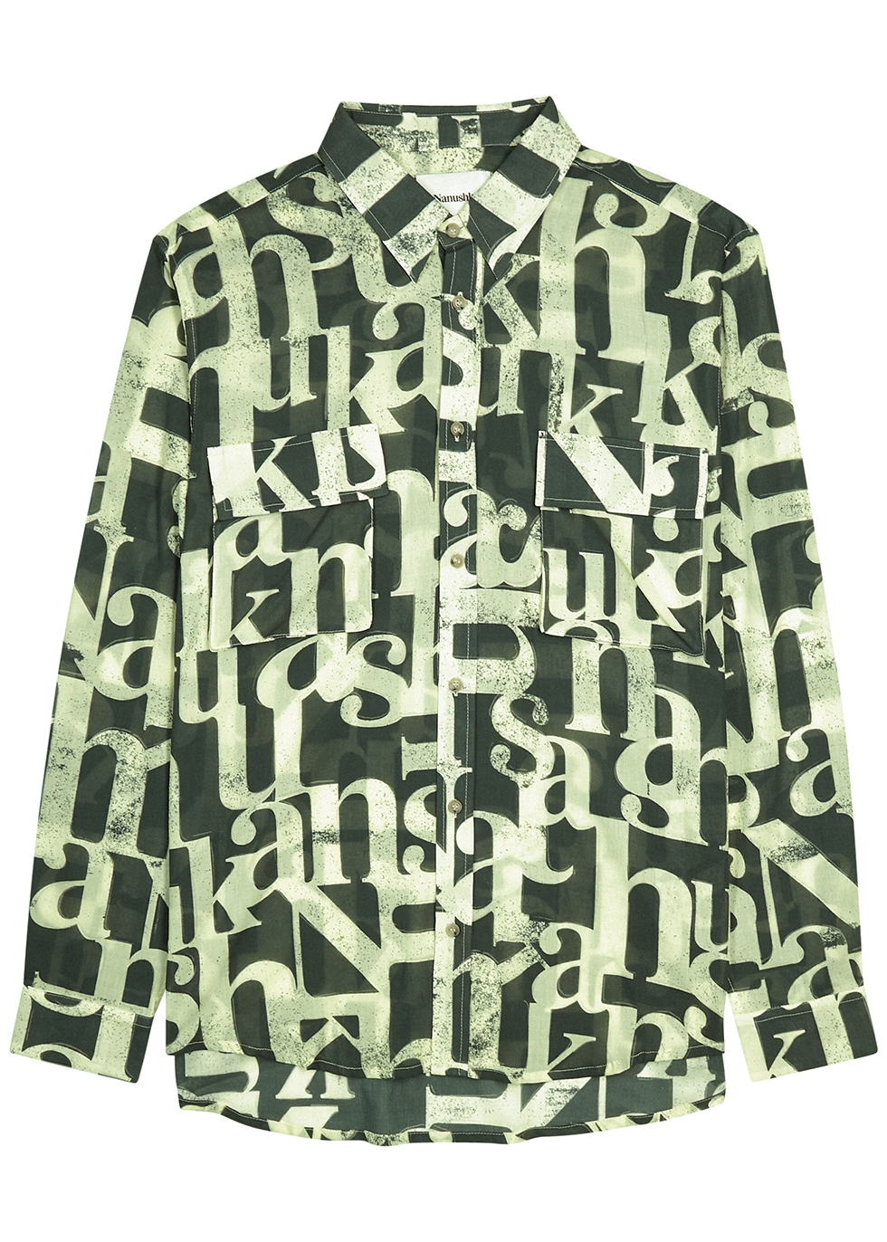 Phin printed cotton-voile shirt