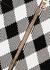 Monochrome gingham stretch-knit mini skirt - Balmain