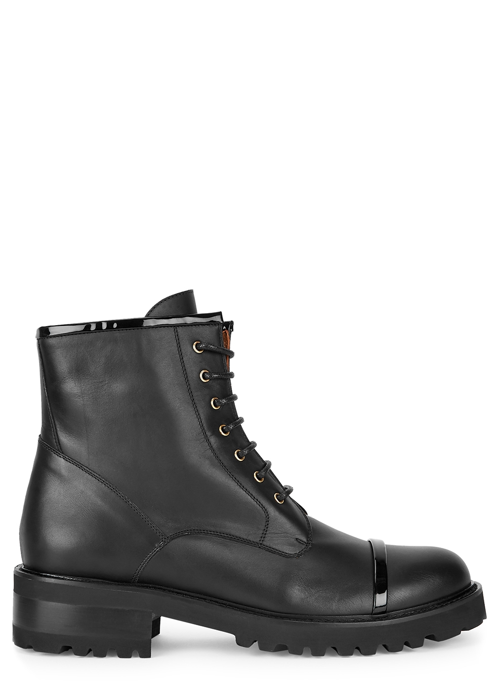 Bryce 50 black leather ankle boots