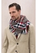 Heritage check merino wool scarf with all round fringe | red - Johnstons of Elgin