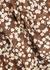 The Tri Crop floral-print bikini top - Matteau