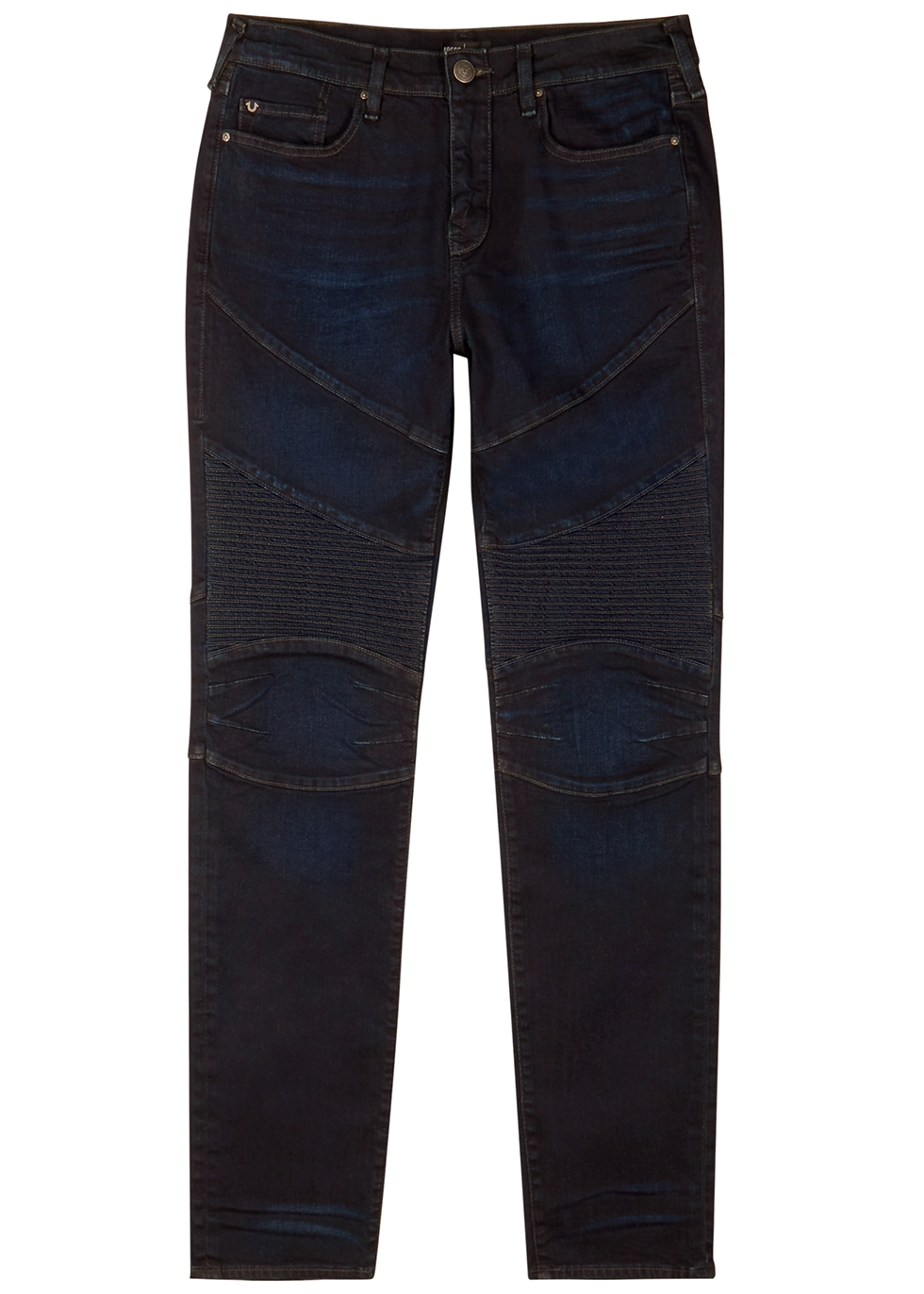 Rocco Moto dark blue slim-leg jeans