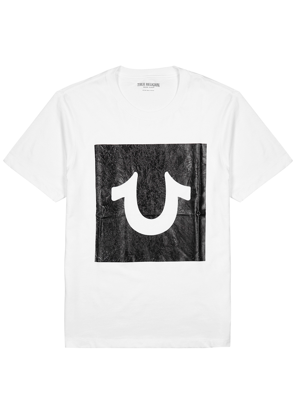 White logo cotton T-shirt