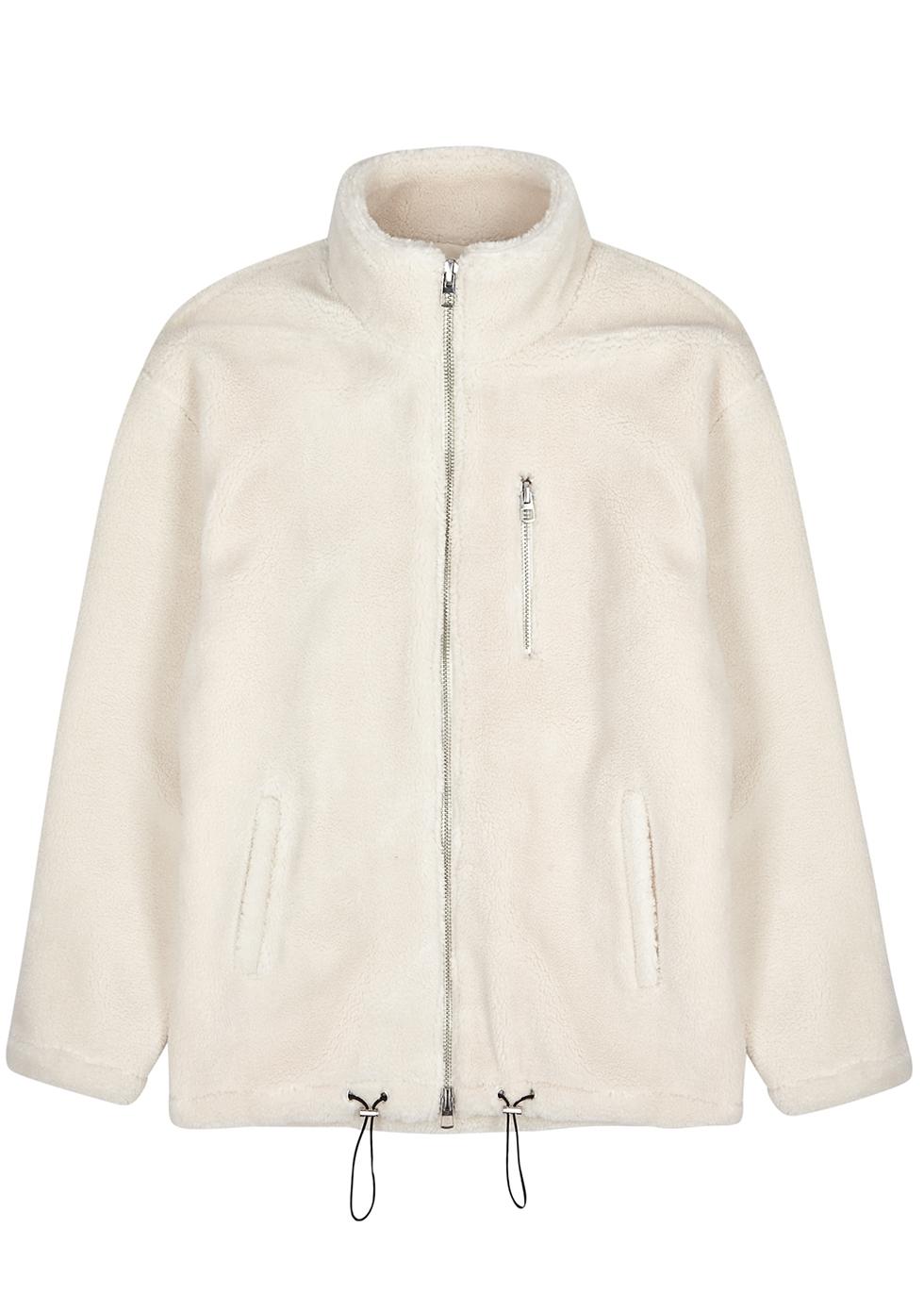 Off-white fleece jacket