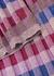 Checked metallic-knit trousers - M Missoni