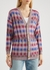 Checked metallic-knit cardigan - M Missoni