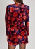 Floral-print velvet playsuit - Magda Butrym