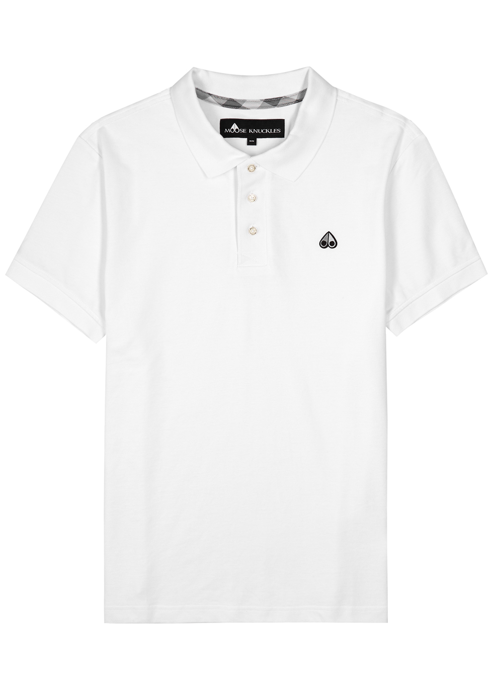 White piqué cotton polo shirt