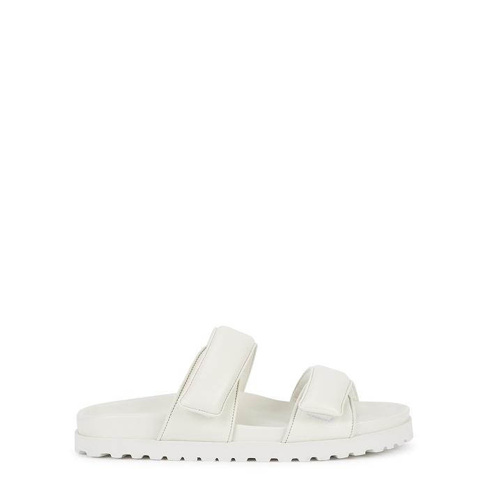 Gia Couture X PERNILLE TEISBAEK WHITE LEATHER SLIDERS