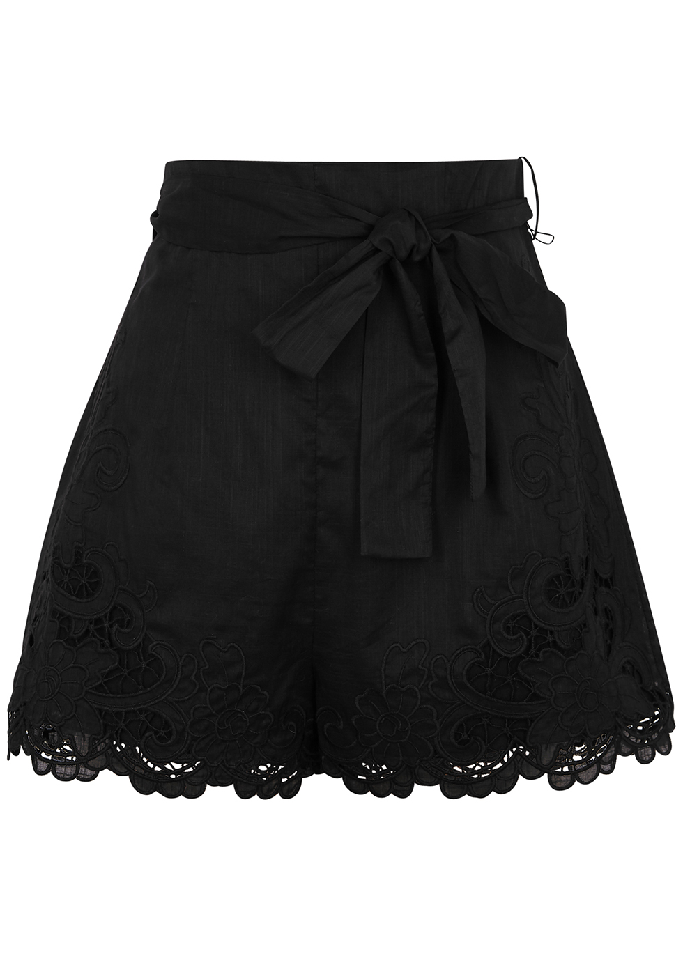 Brighton black cotton shorts
