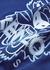 Blue tiger-embroidered cotton sweatshirt - Kenzo