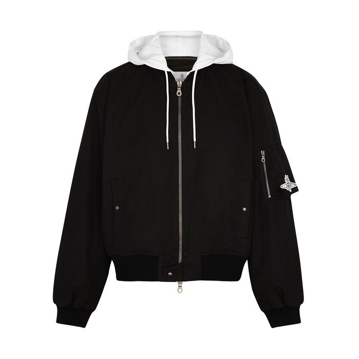 Vivienne Westwood Bomber jackets BLACK HOODED NYLON-TWILL BOMBER JACKET