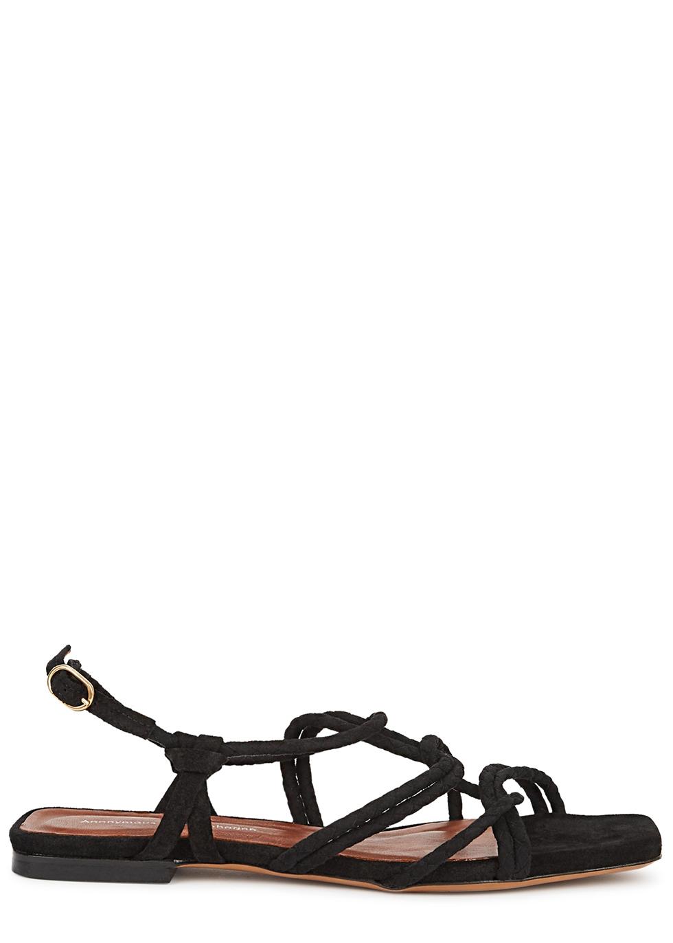 Hayes black suede sandals
