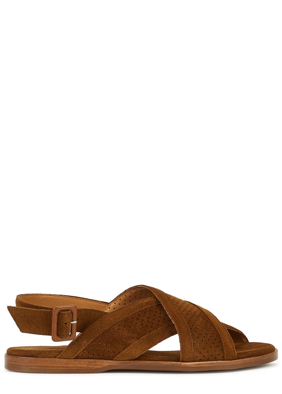Leila brown suede sandals