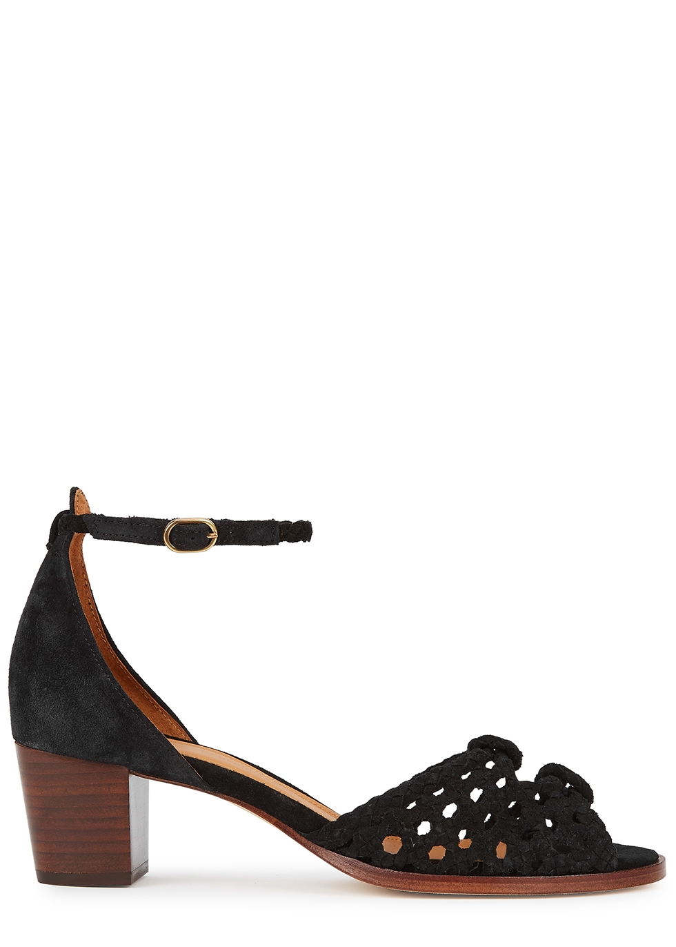 Lucy 45 black suede sandals