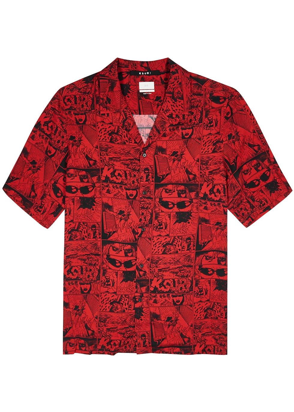Clash printed twill shirt