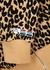 Leopard-print cropped jersey sweatshirt - Adam Selman Sport