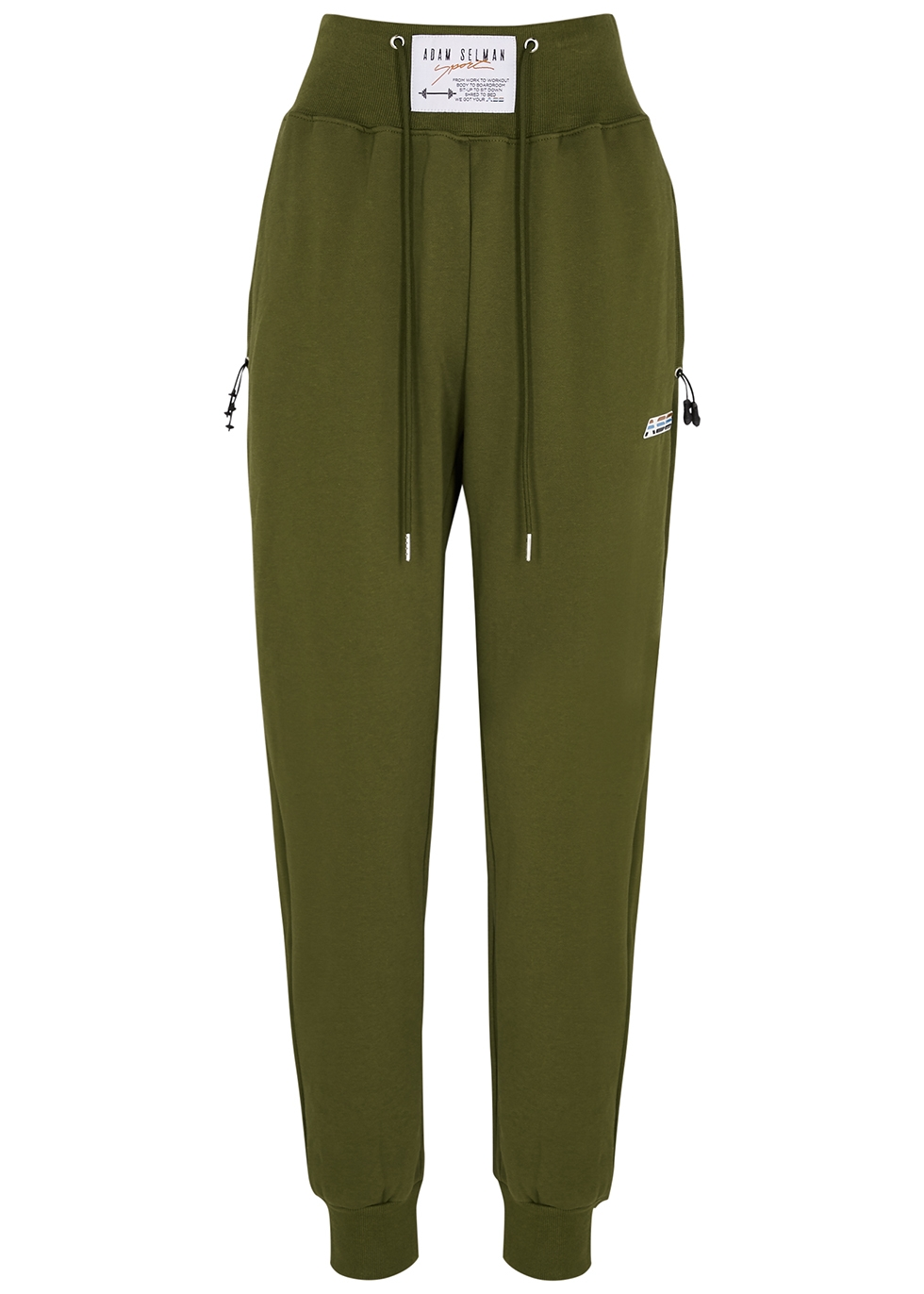 Army green cotton sweatpants