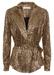 Colby metallic long sleeve jacket in bronze - Traffic People
