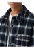 Contrast pocket check wool cotton overshirt - Burberry