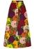 X Ken Scott floral-print cotton-blend midi skirt - Gucci
