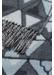Geometric merino & cashmere scarf | blue - Johnstons of Elgin