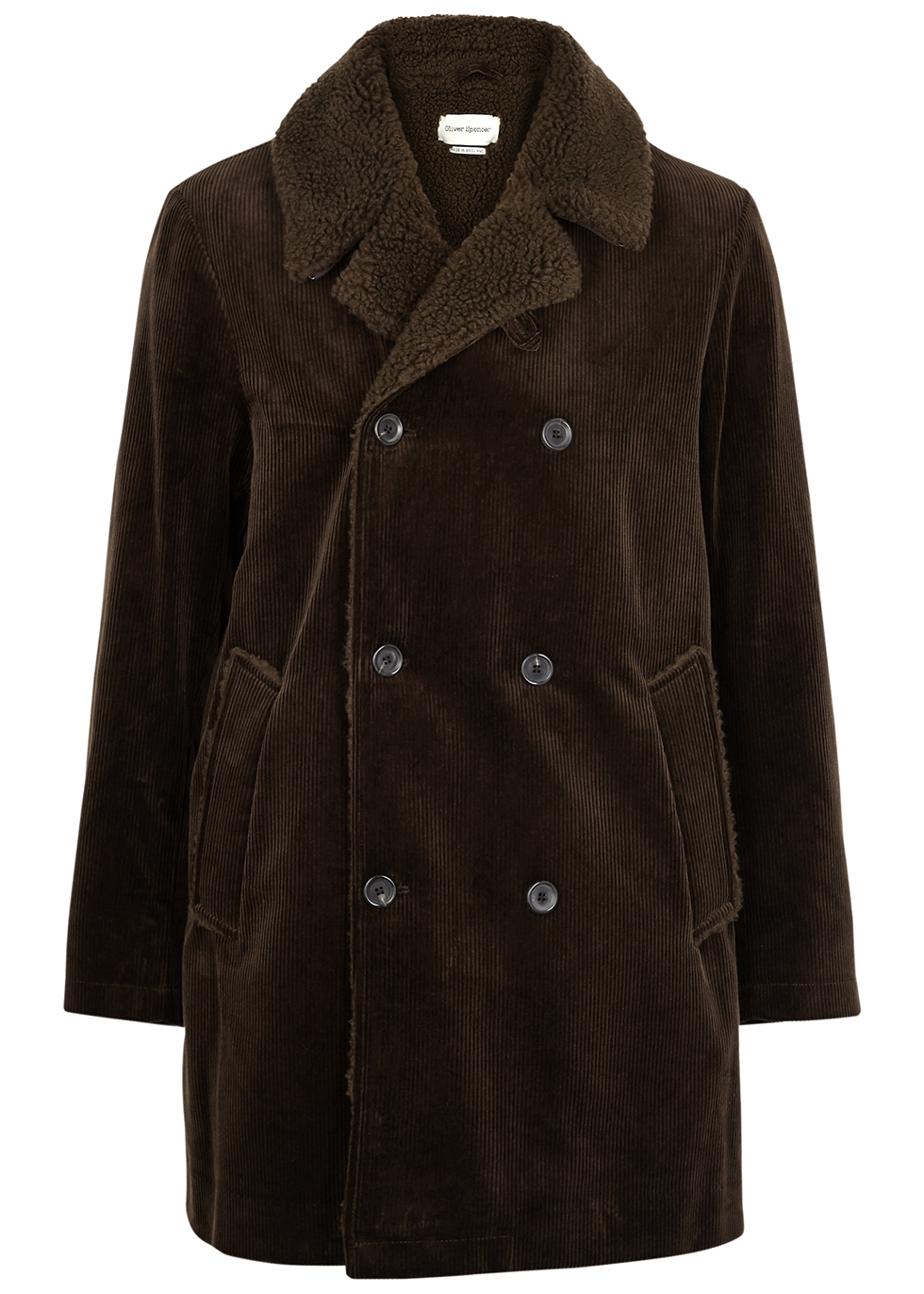Newington faux shearling-lined corduroy jacket