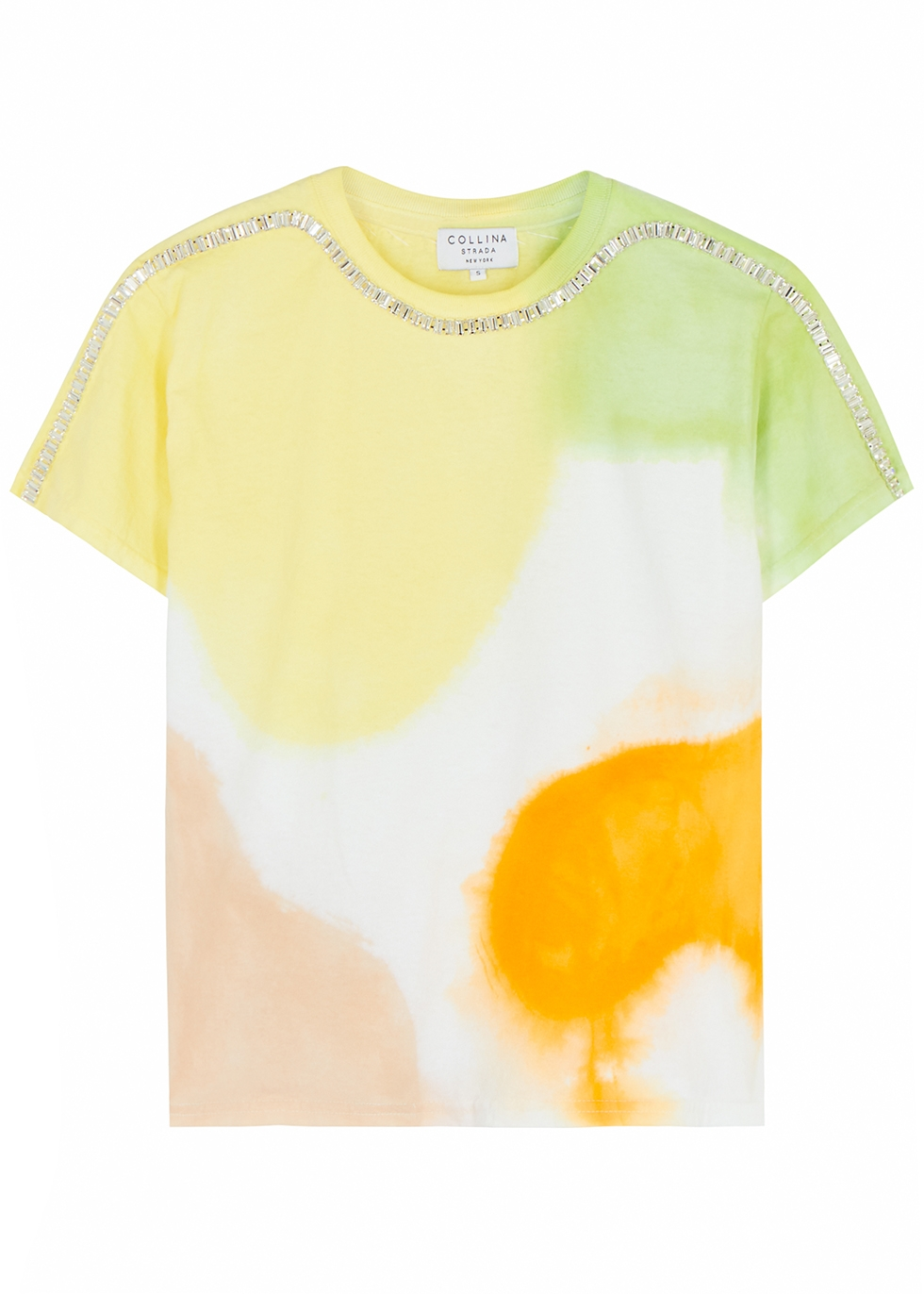 Sporty Spice tie-dyed cotton T-shirt