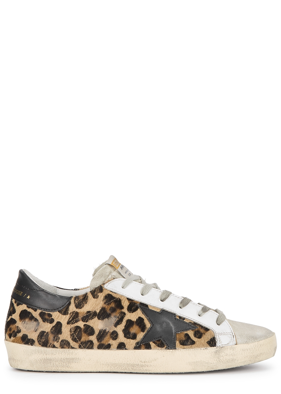 Superstar leopard-print calf hair sneakers