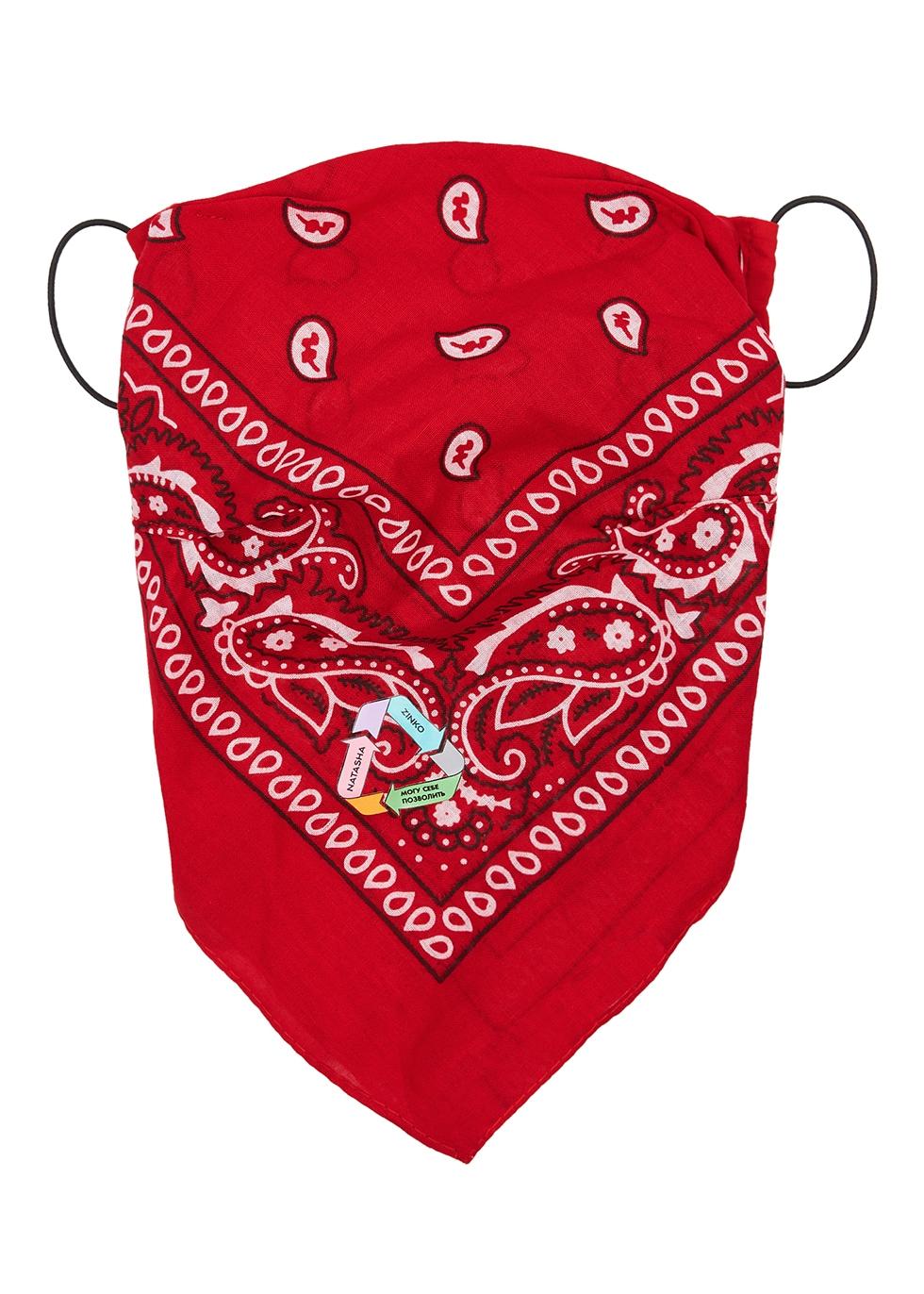 X DUO bandana upcycled cotton face mask