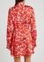 Red floral-print satin mini dress - Natasha Zinko