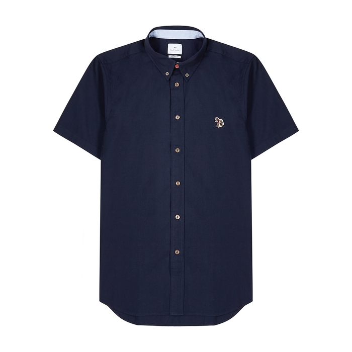 Ps By Paul Smith Cottons NAVY COTTON SHIRT