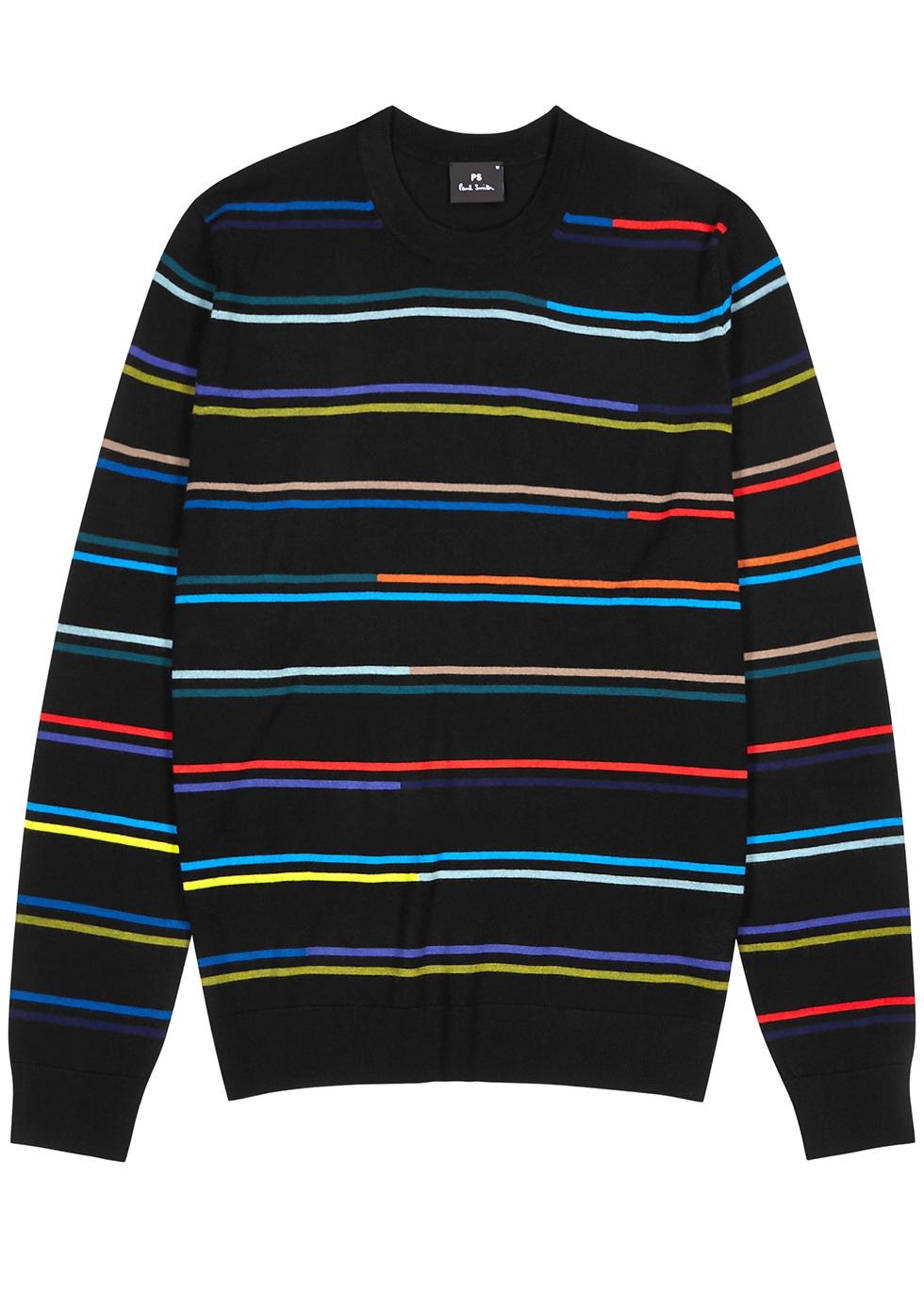 Striped merino wool jumper