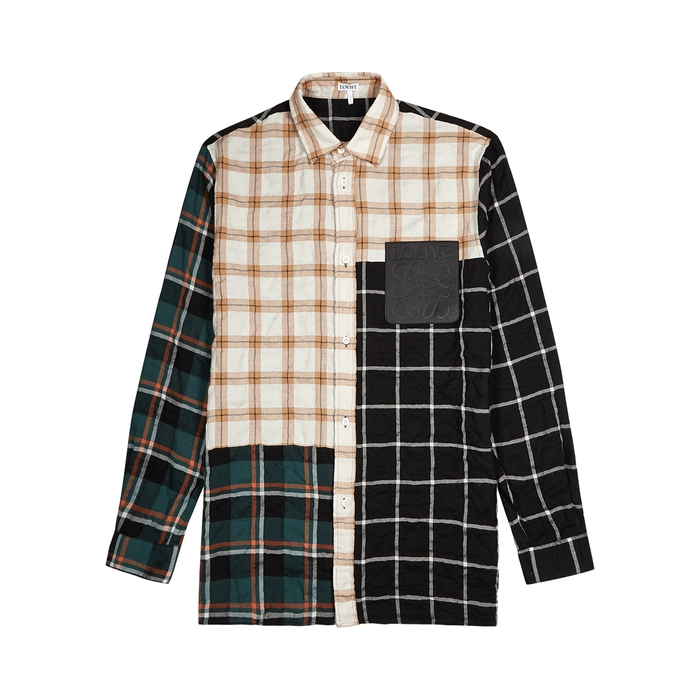 Loewe CHECKED PANELLED OVERSHIRT