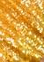 Mustard yellow paillette-embellished midi skirt - Tory Burch