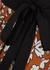 Printed pleated silk-twill wrap skirt - Tory Burch