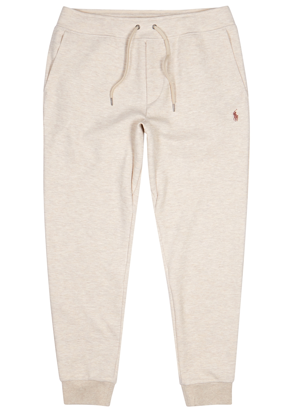 Performance cream mélange jersey sweatpants