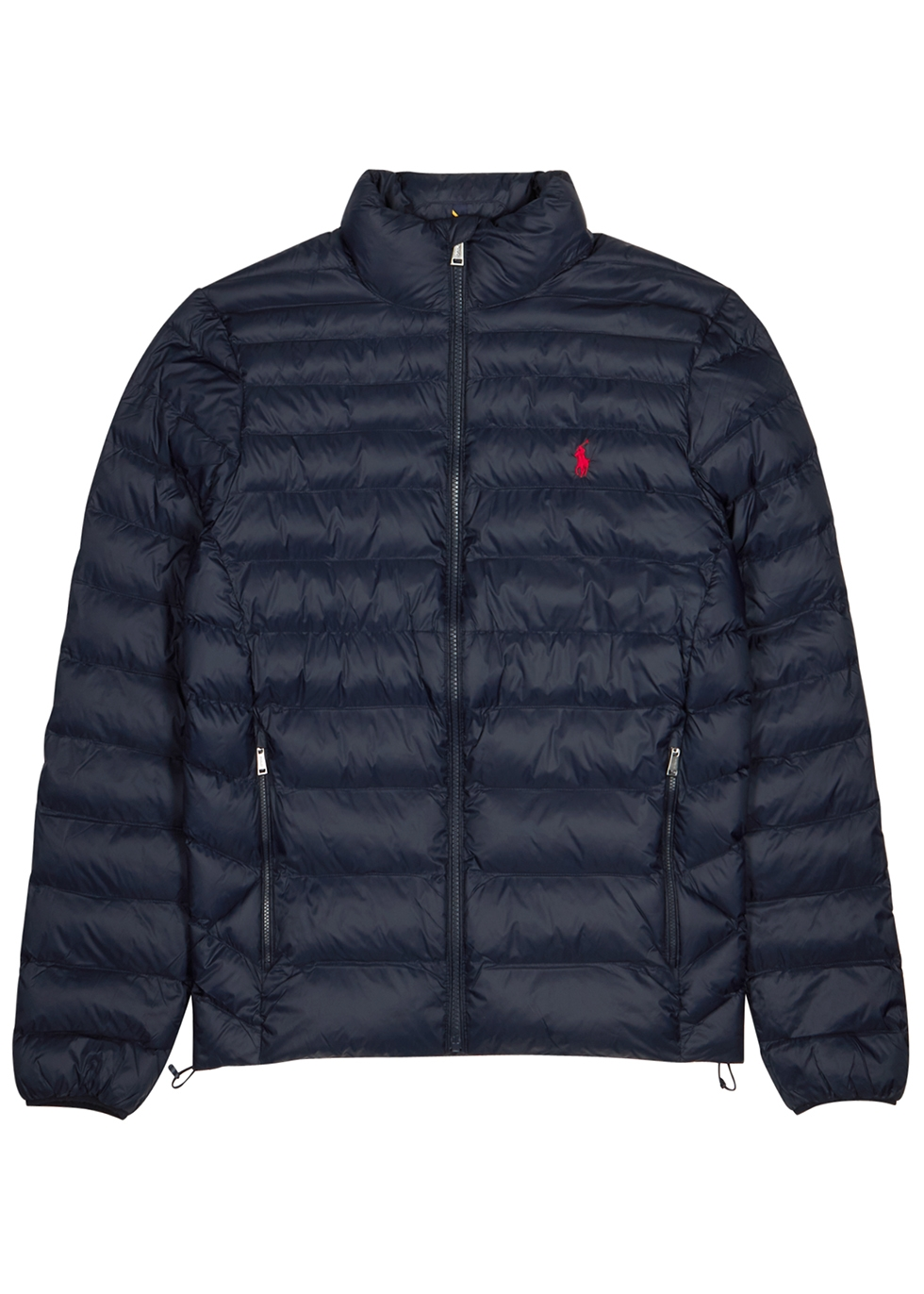 Navy quilted shell jacket