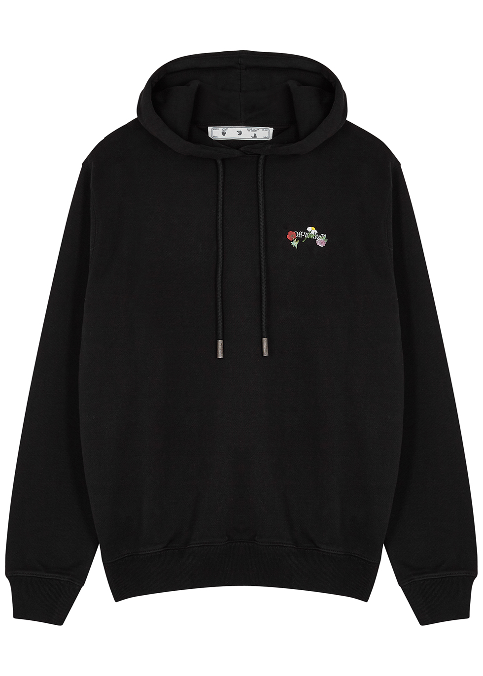 Arrows printed hooded cotton sweatshirt